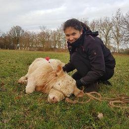 Onze goedlachse dierenarts Barbara